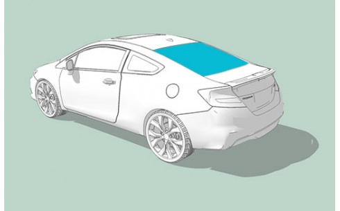 Заднее стекло BMW 1 (E82)/1 (E81)/1 (E88)