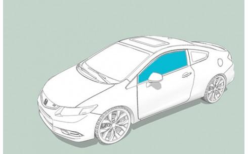 Боковое стекло левое BMW 3 (E36)/M3 (E36)