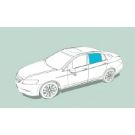 Боковое стекло левое HONDA Civic Type R/Civic