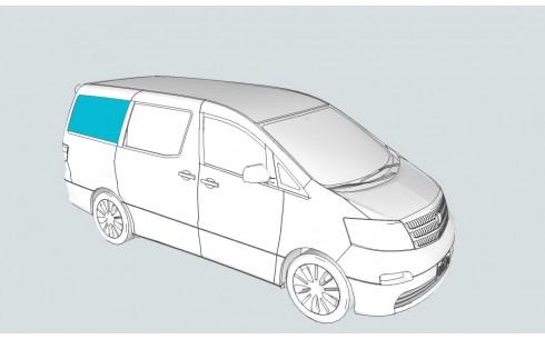 Боковое стекло правое FIAT Multipla