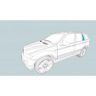 Боковое стекло левое TOYOTA Land Cruiser 100 GX/Land Cruiser 100 VX