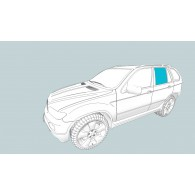 Боковое стекло левое BMW X3 (E83)